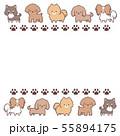 小型犬並びフレーム―足跡 55894175