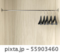 Empty hangers in the wardrobe 55903460