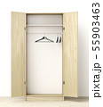 Front view of empty wardrobe 55903463