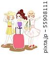 バカンス 女性 グループ 55908111