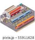 Railway station exterior isolated isometric vector 55911628