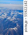 滋賀_積雪する伊吹山山系 55922182