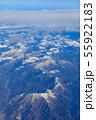 滋賀_積雪する伊吹山山系 55922183