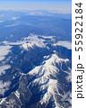 滋賀_積雪する伊吹山山系 55922184