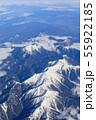 滋賀_積雪する伊吹山山系 55922185