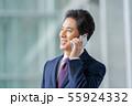 ビジネスイメージ   男性会社員 ミドルのビジネスマン  55924332