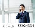 ビジネスイメージ   男性会社員 ミドルのビジネスマン  55924334