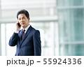 ビジネスイメージ   男性会社員 ミドルのビジネスマン  55924336
