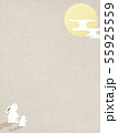 背景-和-和風-和柄-和紙-お月見-ウサギ-秋 55925559