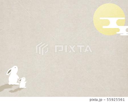 背景-和-和風-和柄-和紙-お月見-ウサギ-秋 55925561