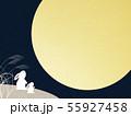 背景-和-和風-和柄-和紙-お月見-ウサギ-秋 55927458