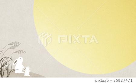 背景-和-和風-和柄-和紙-お月見-ウサギ-秋 55927471
