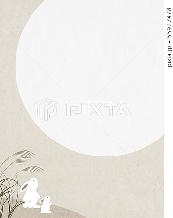 背景-和-和風-和柄-和紙-お月見-ウサギ-秋 55927478
