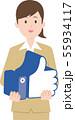 SNSと女性のイメージ 55934117