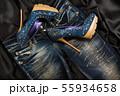 Luxurious women's denim shoes in rhinestones  55934658