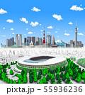 新国立競技場+東京新22雲 55936236