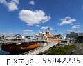 青空と南極観測船ふじ 55942225
