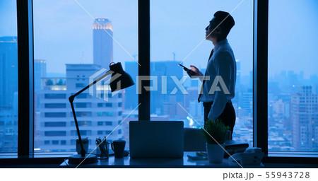Use smartphone at night 55943728