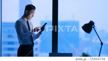 Use smartphone at night 55943730