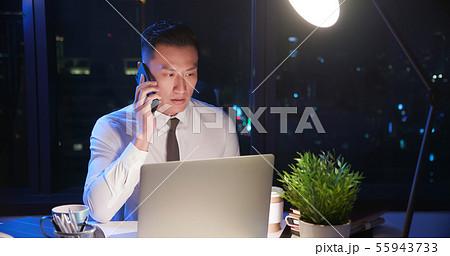 businessman overtime work 55943733