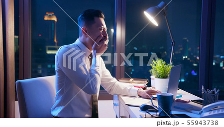 businessman overtime work 55943738