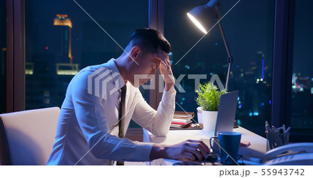 businessman depress and work tired 55943742