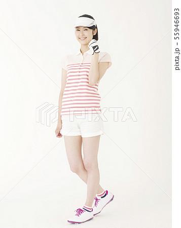 女性 ゴルフ 55946693