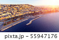 Naples, Italy. Aerial cityscape image of Naples, Campania, Italy during sunrise. 55947176