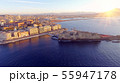 Naples, Italy. Aerial cityscape image of Naples, Campania, Italy during sunrise. 55947178