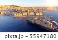 Naples, Italy. Aerial cityscape image of Naples, Campania, Italy during sunrise. 55947180