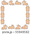 コーギーフレーム正方形 55949582