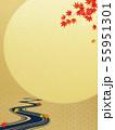 背景-和-和風-和柄-和紙-お月見-紅葉-川-秋 55951301