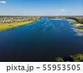 river Matyra in Gryazi city in Russia, aerial survey 55953505