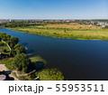 river Matyra in Gryazi city in Russia, aerial survey 55953511