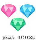 キラキラ輝く宝石(ダイヤモンド)のイラスト 55955021