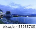 滋賀県・琵琶湖・びわこ花噴水 55955785