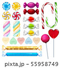 Vector realistic illustrations of sweets and candy 55958749