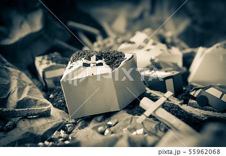 土砂災害 土砂崩れ 斜面崩壊 地すべり がけ崩れ 土石流 自然災害 天災 復興 55962068