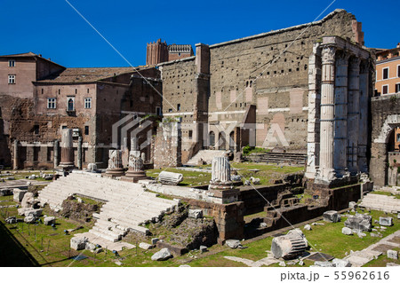 Ancient ruins of the Forum of Augustus in Rome 55962616