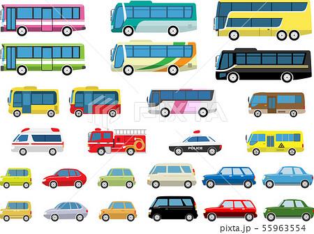 自動車バスセット 55963554