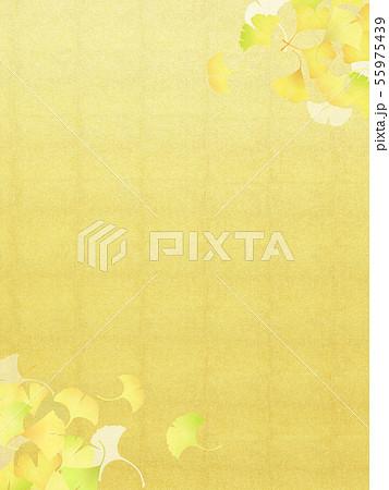 背景-和-和風-和柄-和紙-銀杏-金箔-秋 55975439