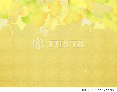 背景-和-和風-和柄-和紙-銀杏-金箔-秋 55975445