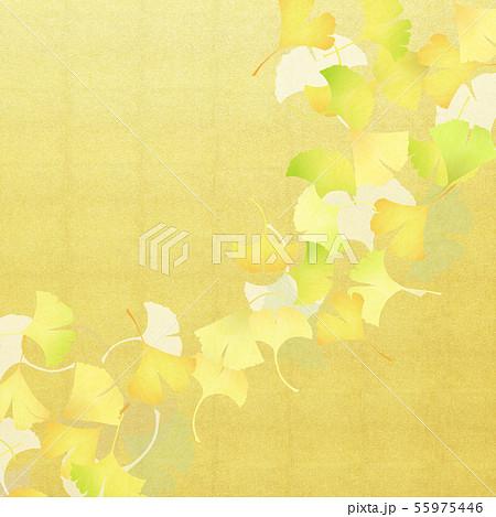背景-和-和風-和柄-和紙-銀杏-金箔-秋 55975446