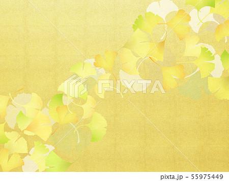 背景-和-和風-和柄-和紙-銀杏-金箔-秋 55975449