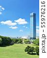 青空の千葉ポートタワー 55976216