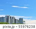 爽やかな青空とマンション 55976238