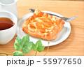 アップルパイ、菓子パン、りんごパイ、紅茶とテーブル、ティータイムのイメージ。 55977650
