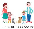 家族 親子 犬と猫 55978815
