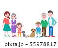 家族 三世代 犬と猫 55978817