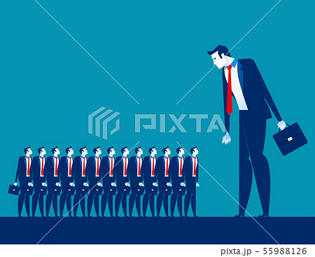 Business manager looking on crowd. Concept 55988126